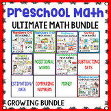 Pre-K/Preschool Math Centers Bundle | Year Long Math Centers