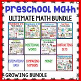Pre-K/Preschool Math Centers Bundle | Year Long Math Centers