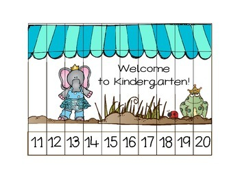 Pre-K, Preschool and Kindergarten Puzzle Set