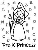 Pre-K Princess Coloring Page