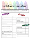 Pre-K Progress Report