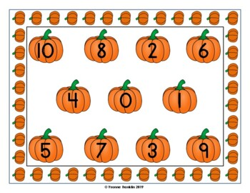 Pre-K Pumpkin Number Match