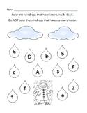 Pre K Raindrop Letter/Number Identification