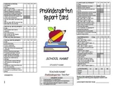 Pre-K Report Card - Standards Based and EDITABLE