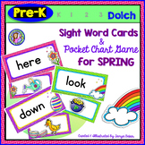Pre-K: SPRING Dolch Sight Word Cards/Pocket Chart Game