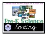 Pre-K Science Animal and Habitat Sort
