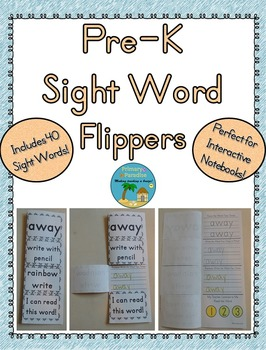Sight Word Flippers for Pre-K: 40 Words