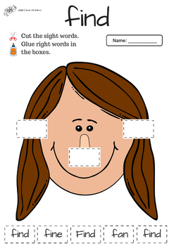 Pre-K Sight Words Activities Bundle