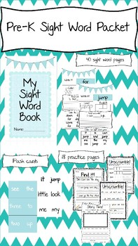 Pre-K Sight word Packet! No Prep!