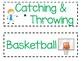 Pre-K Simple Objectives Bulletin Board *Editable*