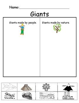 Pre-K Social Studies Giants Made by Man
