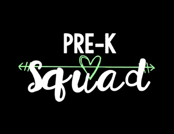 Pre-K Squad Background by Mrs Dales Supply Sale | TpT