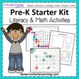 Pre-K Starter Kit Mega Bundle for Literacy & Math - Distan