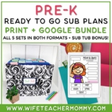 Pre-K Sub Plans BUNDLE (Pre-School Emergency Substitute Plans)