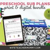 Pre-K Sub Plans BUNDLE (Pre-School Emergency Substitute Plans)