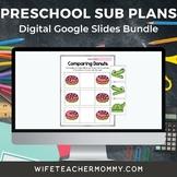 Pre-K Sub Plans (Preschool Substitute Lesson Plans) Digital Google Slides Bundle