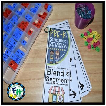 Pre-K Summer Review: Blend & Segment Activity Book