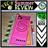 Pre-K Summer Review: Numbers to 10 Activity Book