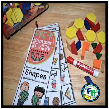 Pre-K Summer Review: Shapes Book
