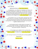 Pre-K Summer Welcome Letter for Families