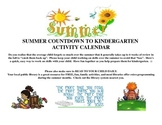 Pre-K Summer daily activity calendar 2013