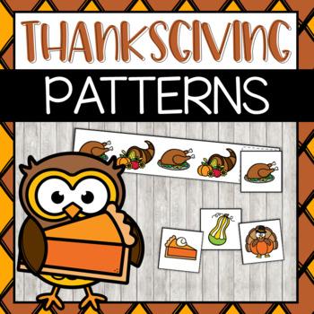 Pre-K Thanksgiving Pattern Strips