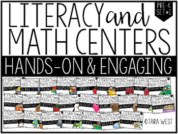 Pre-K Themed Literacy and Math Centers