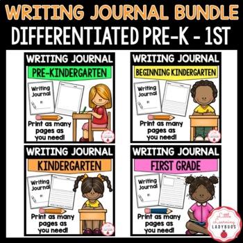 Pre-K Through First Grade Writing Journal Bundle