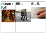 Pre K- Unit 2 My Five Senses  vocabulary cards English and Chinese