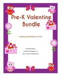Pre-K Valentine Bundle Numbers Letters Tracing Centers Posters