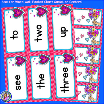 Pre-K: WINTER Dolch Sight Word Cards/Pocket Chart Game