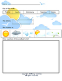 Pre-K Weather Chart