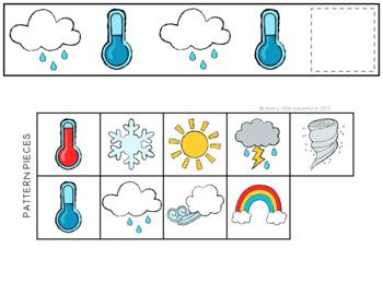 Pre-K Weather Pattern Strips