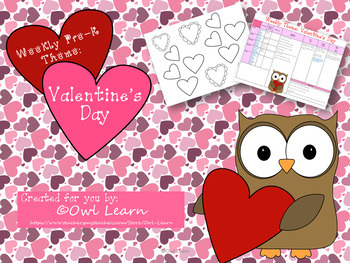 Pre-K Weekly Theme: Valentine's Day