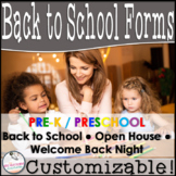 Pre-K Welcome Packet