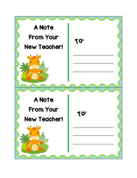 Pre-K Welcome Postcards