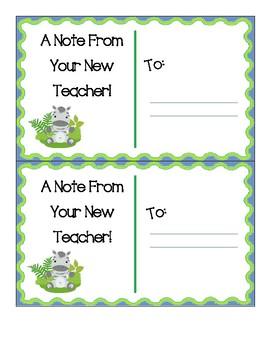 Pre-K Welcome Postcards Option 2