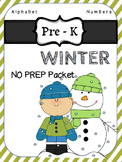Pre K Winter Pack for Literacy and Math