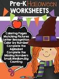 Pre-K Worksheets Halloween