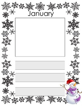 Pre-K Writing Thematic Journal Paper