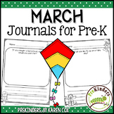 Pre-K Writing Journals: MARCH