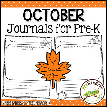 Pre-K Writing Journals: OCTOBER