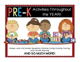 Pre-K  WHOLE YEAR LONG Activities