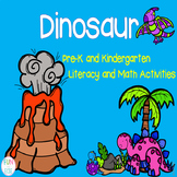 Dinosaurs Pre-K and Kindergarten Literacy and Math Activities