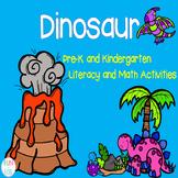 Dinosaurs Pre-K and Kindergarten Literacy and Math Activities