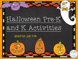 Pre-K and Kindergarten Halloween Math and Literacy Activities