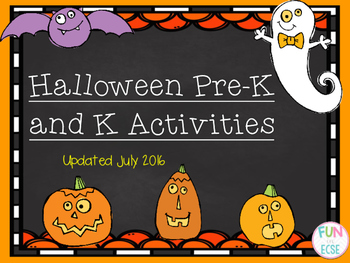 Pre-K and Kindergarten Halloween Math and Literacy Activities