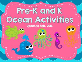 Pre-K and Kindergarten Ocean Activities