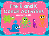 Pre-K and Kindergarten Ocean Activities