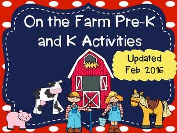 Pre-K and Kindergarten On the Farm Activities